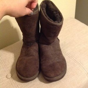 Ugg Classic Short Suede Leather Boots 6 women